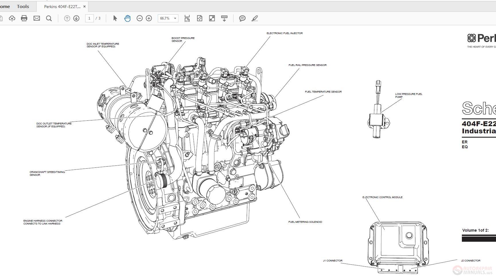 Perkins 404F-E22T,E22TA UENR4548-00 Schematic | Auto Repair