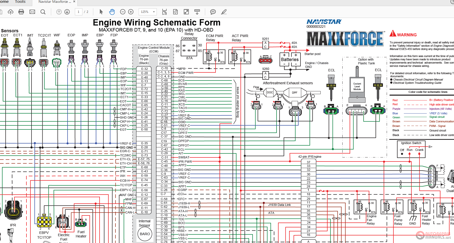 Navistar Maxxforce Dt Hd Obd Wiring Diagrams on Navistar Wiring Diagrams