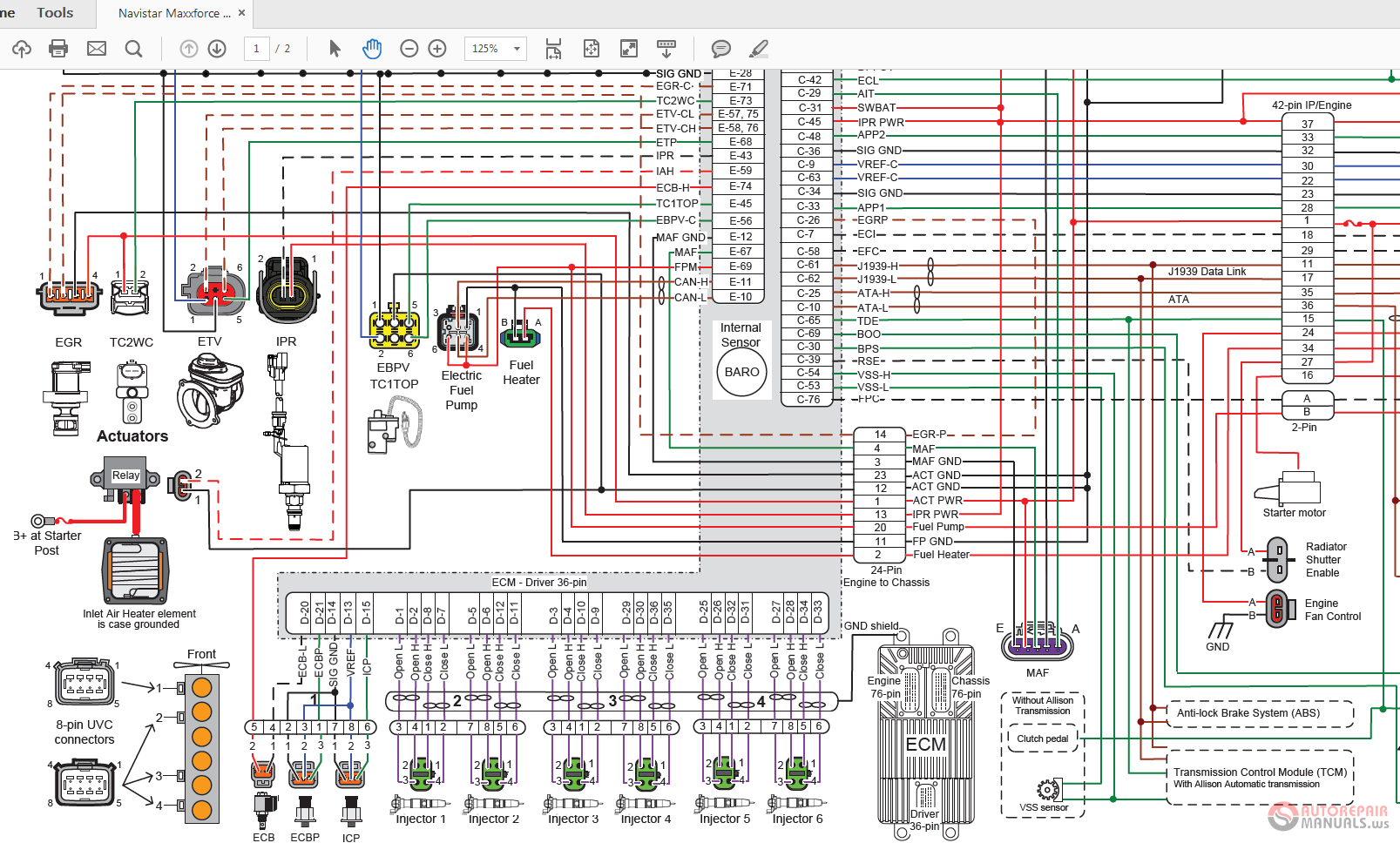 Navistar Wiring Diagrams on