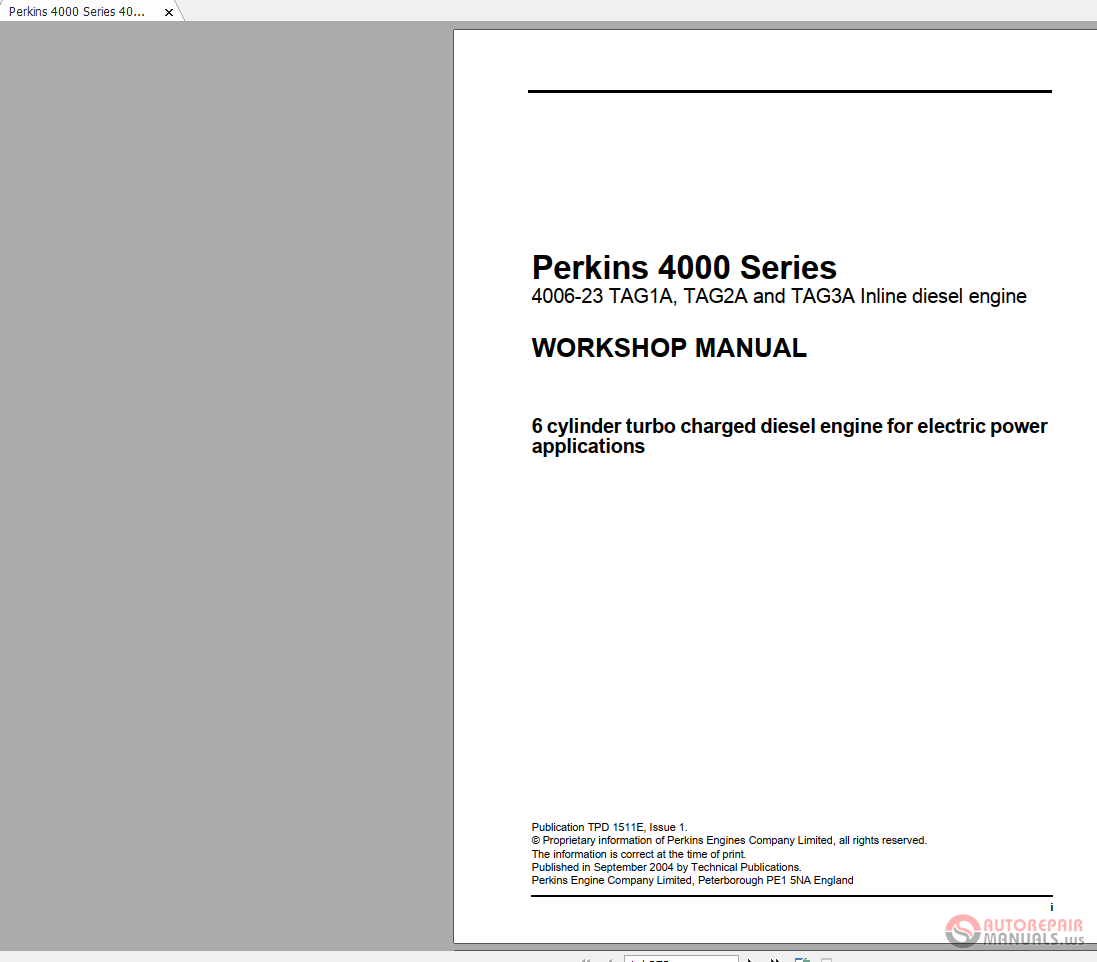 4000 Turbo Series Perkins Service Manual Lt Z400 Wiring Harness Diagram Also Subaru Cooling Fan Recambios 4008tag2a Dgb082339 Pdf Array Rh Fros