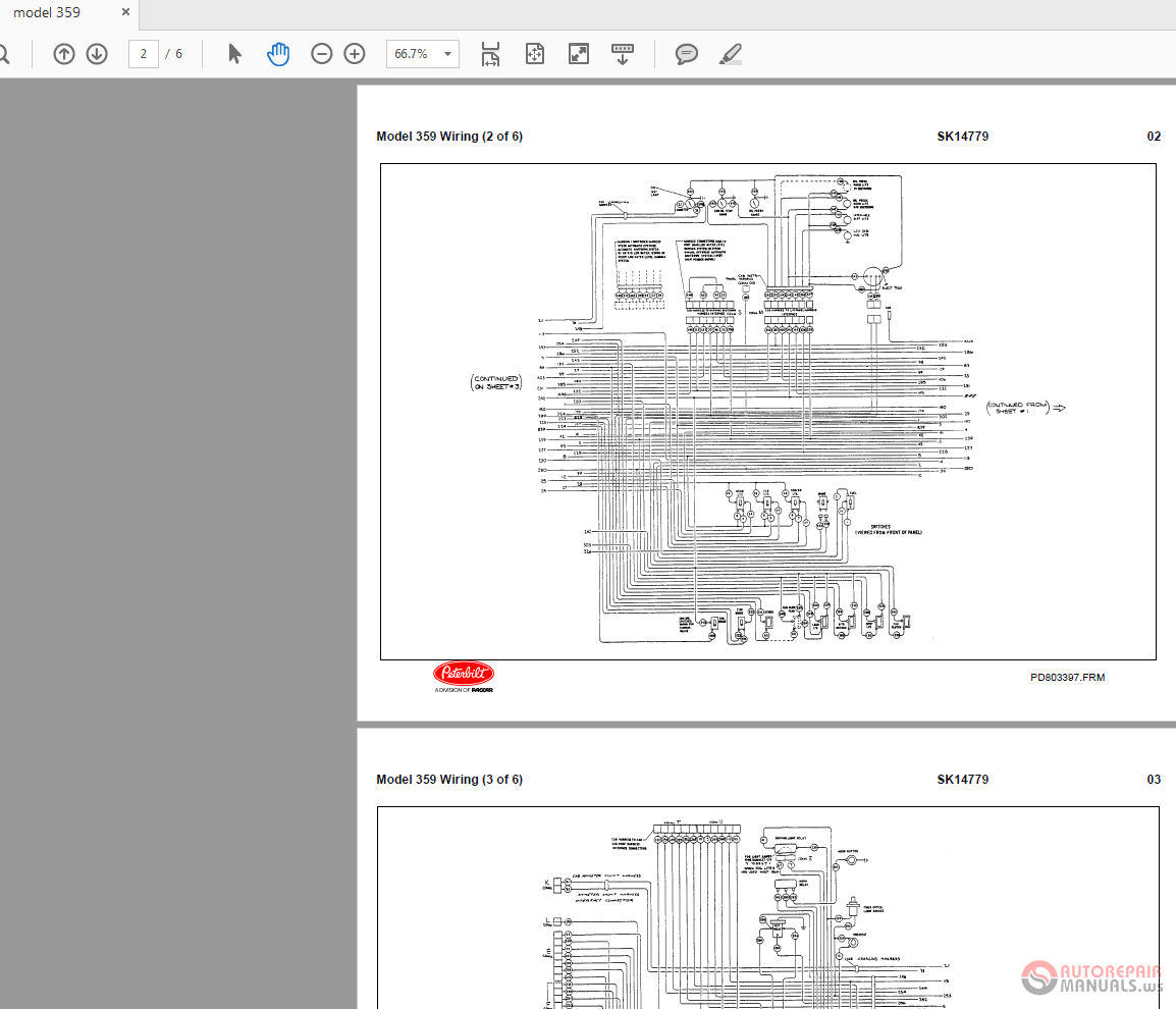 Peterbilt 359 Sk14779 Model Wiring Diagrams