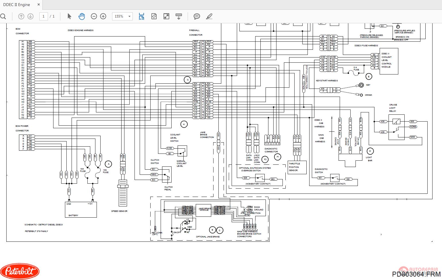 Peterbilt Ddec Ii Sk20627 Engine Wiring Diagrams