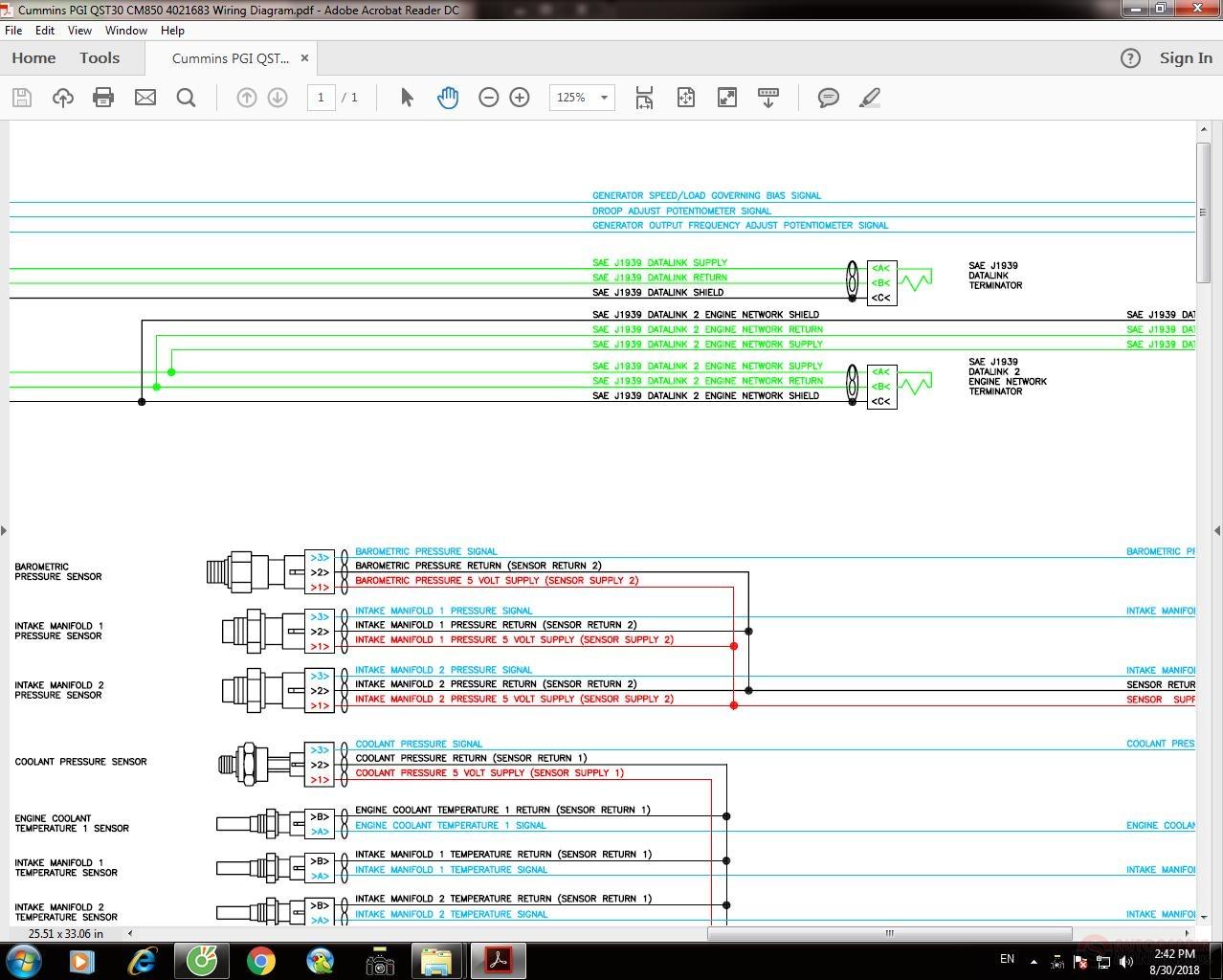 mins PGI QST30 CM850 4021683 Wiring Diagram   Auto Repair ... Qst Wiring Diagram on