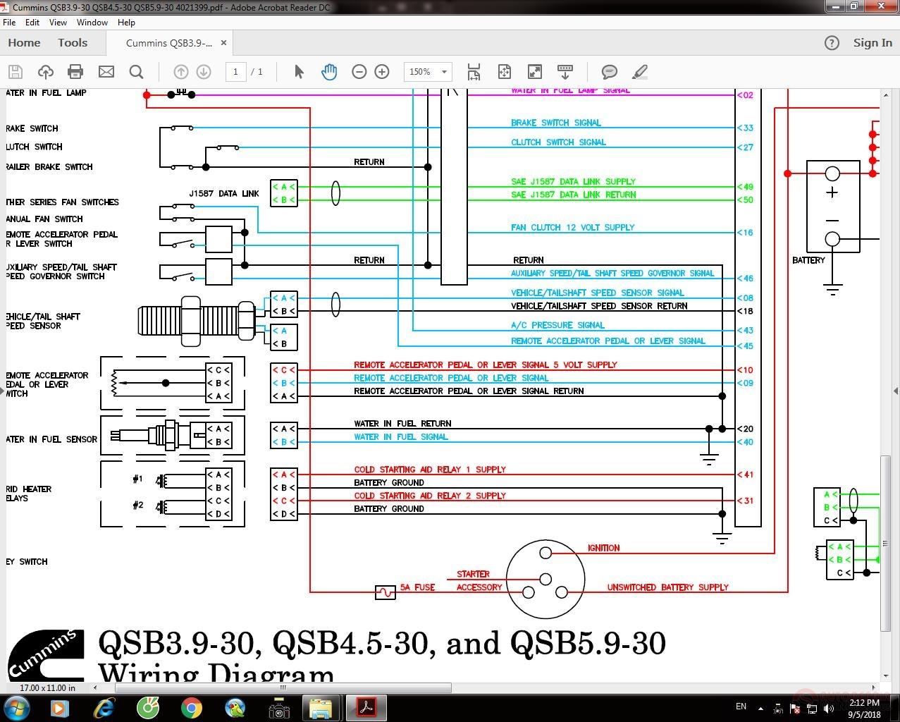 Cummins Qsb3 9-30 Qsb4 5-30 Qsb5 9-30 4021399 Wiring Diagram