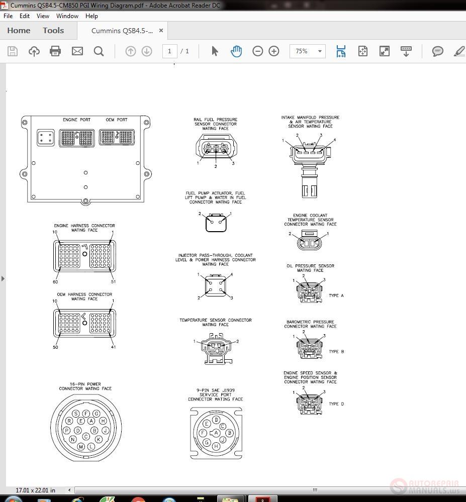 Cummins QSB4 5-CM850 PGI Wiring Diagram   Auto Repair Manual