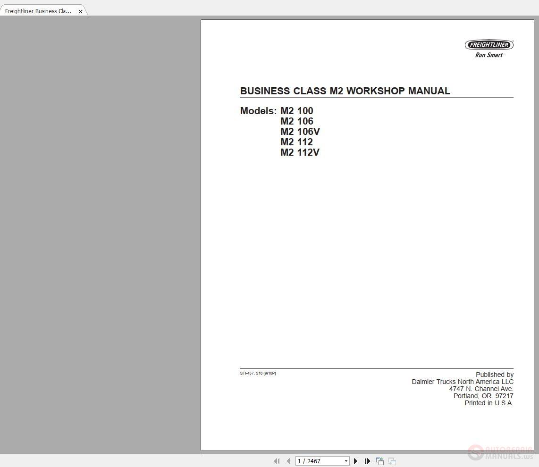 Freightliner Business Class Series M2 STI-457 Workshop