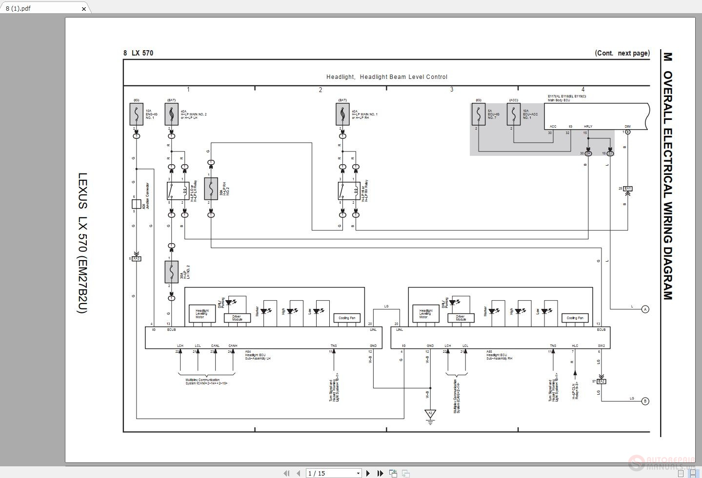 [SCHEMATICS_4JK]  LEXUS LX570 2016-2018 Electrical Wiring Diagram | Auto Repair Manual Forum  - Heavy Equipment Forums - Download Repair & Workshop Manual | Lexus Lx 470 Wiring Diagram |  | Auto Repair Manual Forum