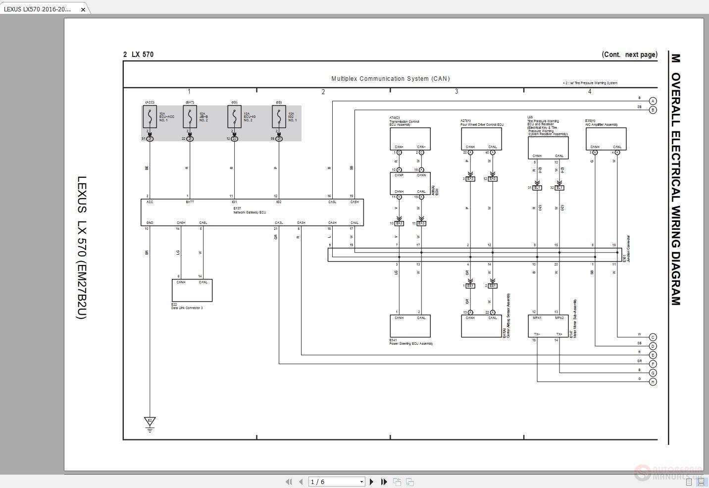 [SCHEMATICS_48IU]  LEXUS LX570 2016-2018 Electrical Wiring Diagram | Auto Repair Manual Forum  - Heavy Equipment Forums - Download Repair & Workshop Manual | Lexus Electrical Wiring Diagram |  | Auto Repair Manual Forum