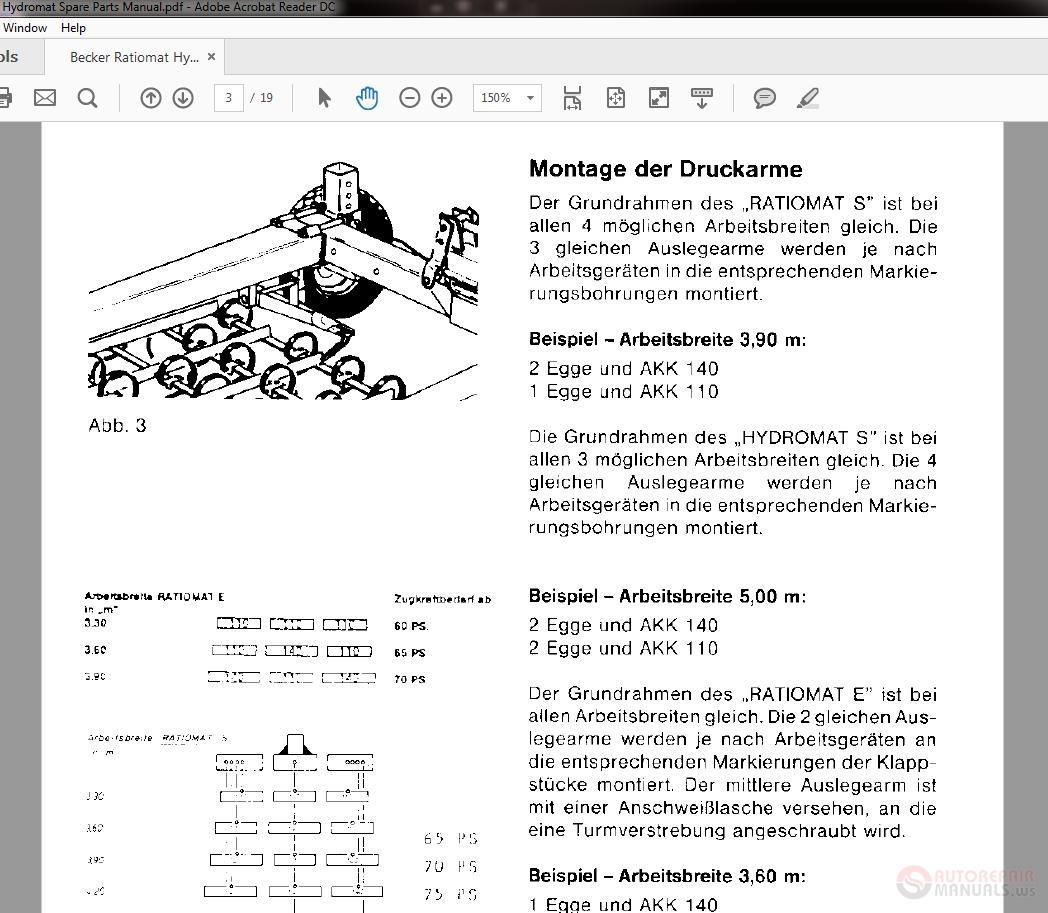 Becker Ratiomat Hydromat Spare Parts Manual Auto Repair Playstation 3 Diagram Img