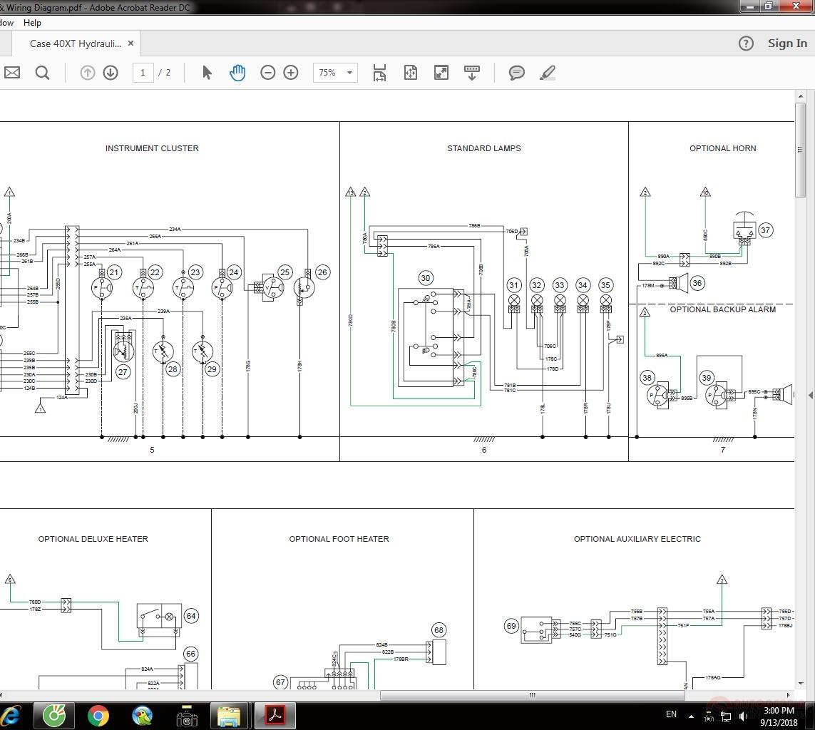 Case 40xt Hydraulic  U0026 Wiring Diagram