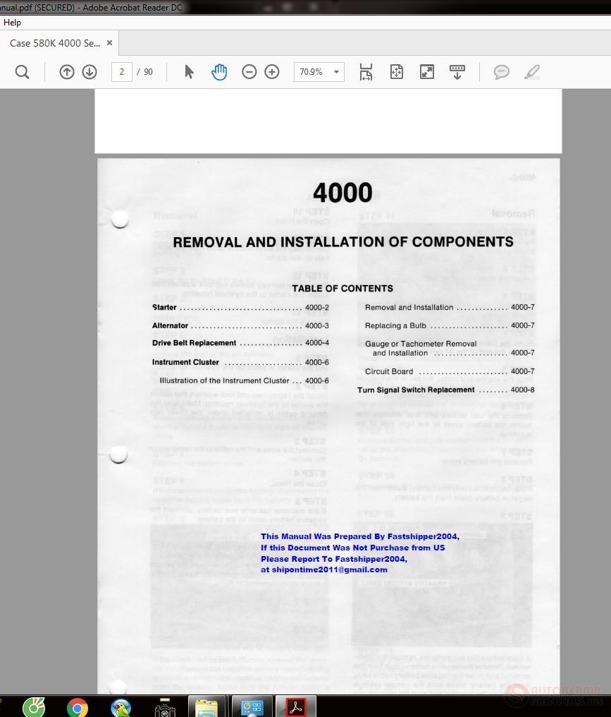 Case 580K 4000 Service Manual | Auto Repair Manual Forum