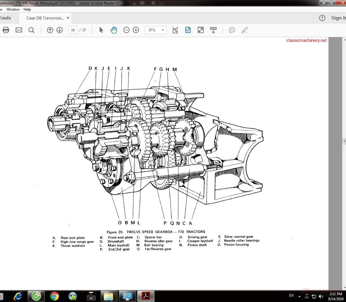 Case Db Transmission 770