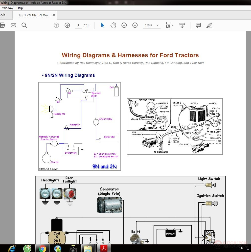 Ford 2N 8N 9N Wiring_Diagrams | Auto Repair Manual Forum ...  N Ford Tractor Wiring Diagram With Wire Length on