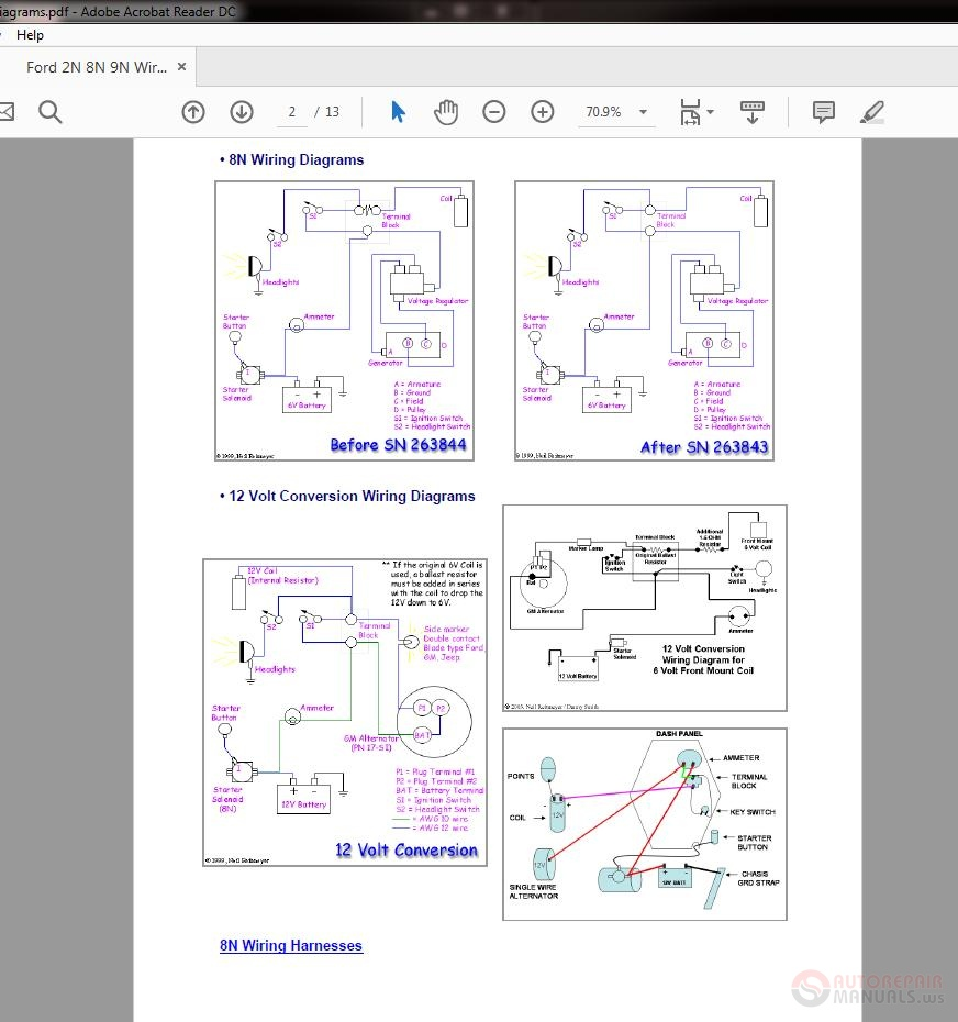 on 9n ford tractor wiring diagram with wire length