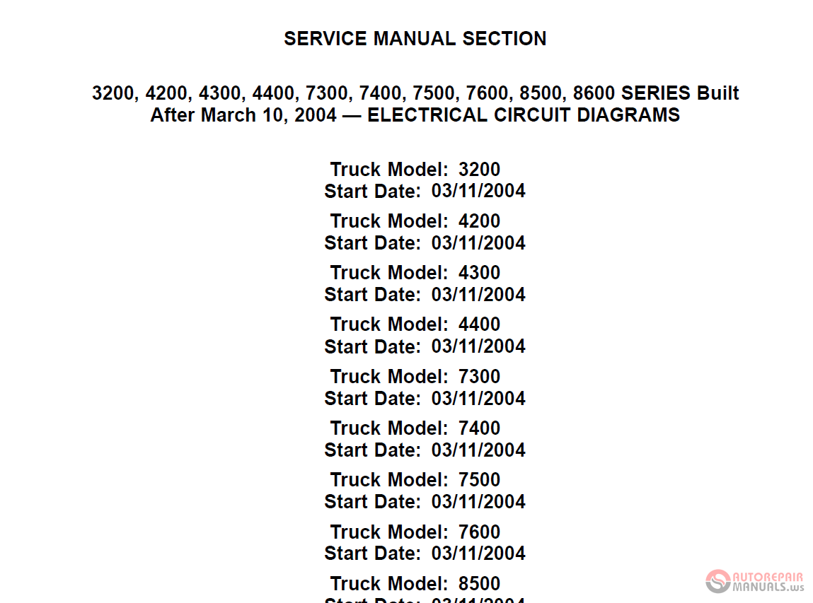 International Service Manual - Electrical Circuit Diagrams Cd
