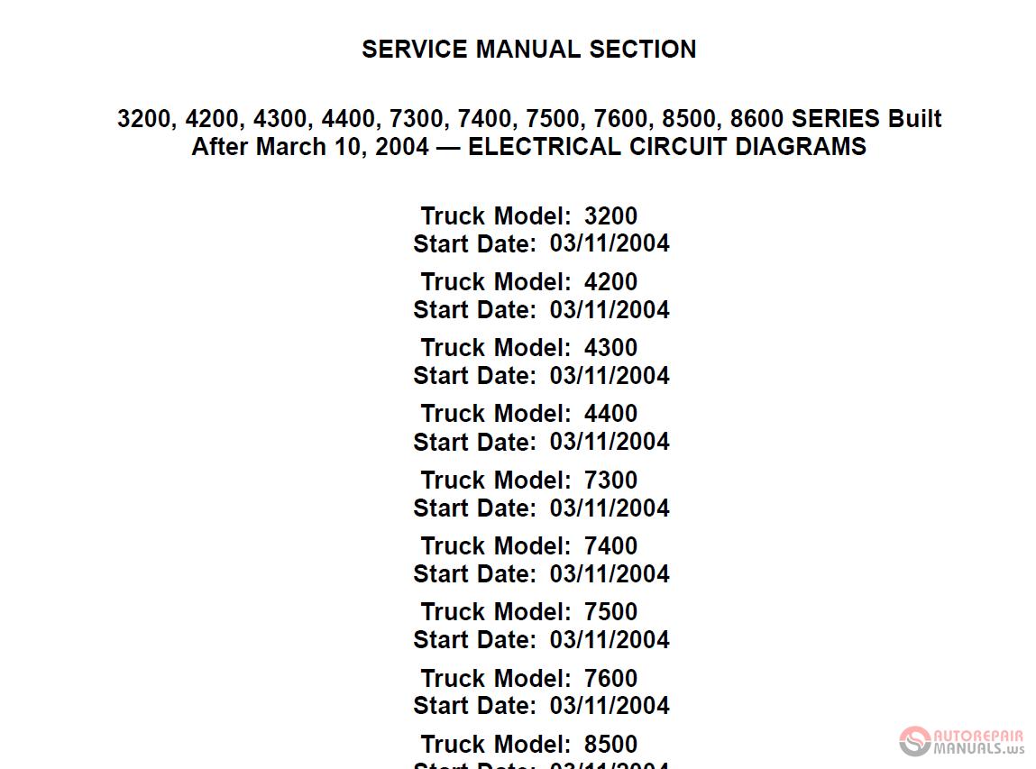 International Service Manual - Electrical Circuit Diagrams Cd
