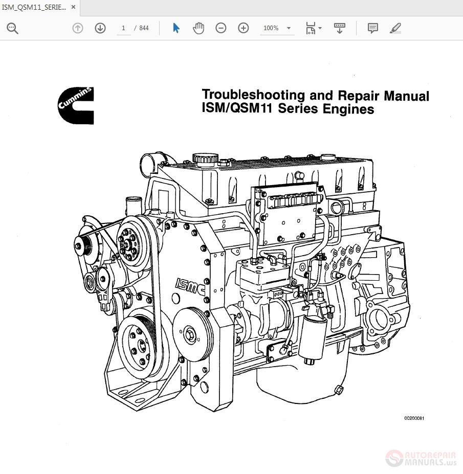 Cummins Ism Qsm11 Series Diesel Engine Troubleshooting And Repair Manual