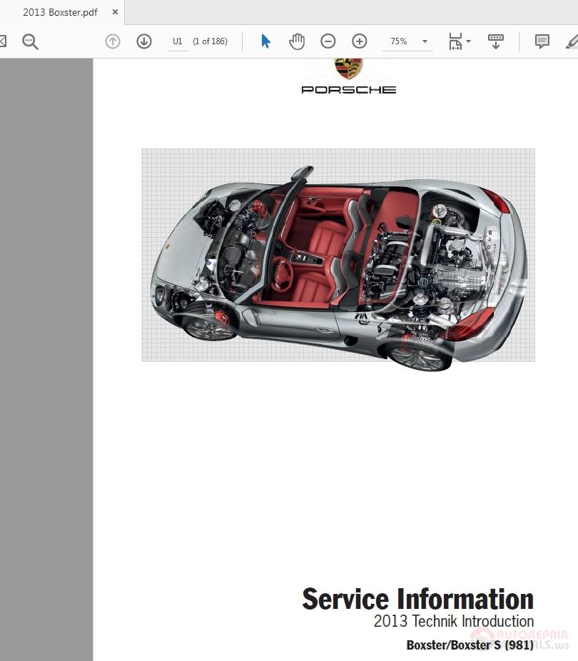 Porsche Boxster-s- 981  2013 Pna 981 Box 13 Service Manual