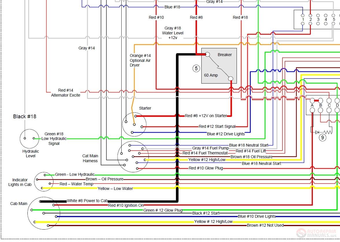 cat glow plug wiring diagram cat t 630 engine wiring diagram auto repair manual forum heavy  cat t 630 engine wiring diagram auto