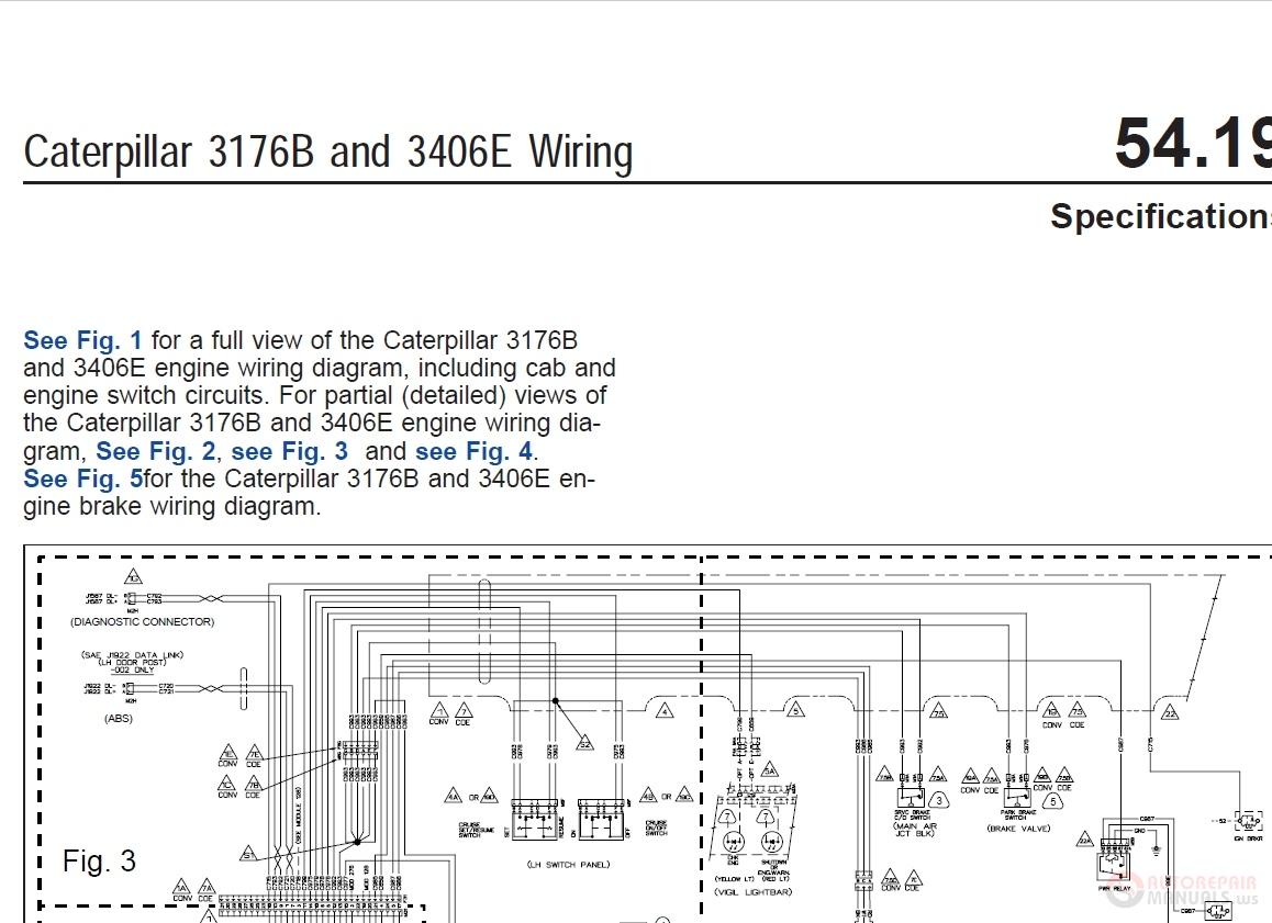 Caterpillar 3176B and 3406E Wiring Diagram | Auto Repair Manual Forum -  Heavy Equipment Forums - Download Repair & Workshop ManualAuto Repair Manual Forum