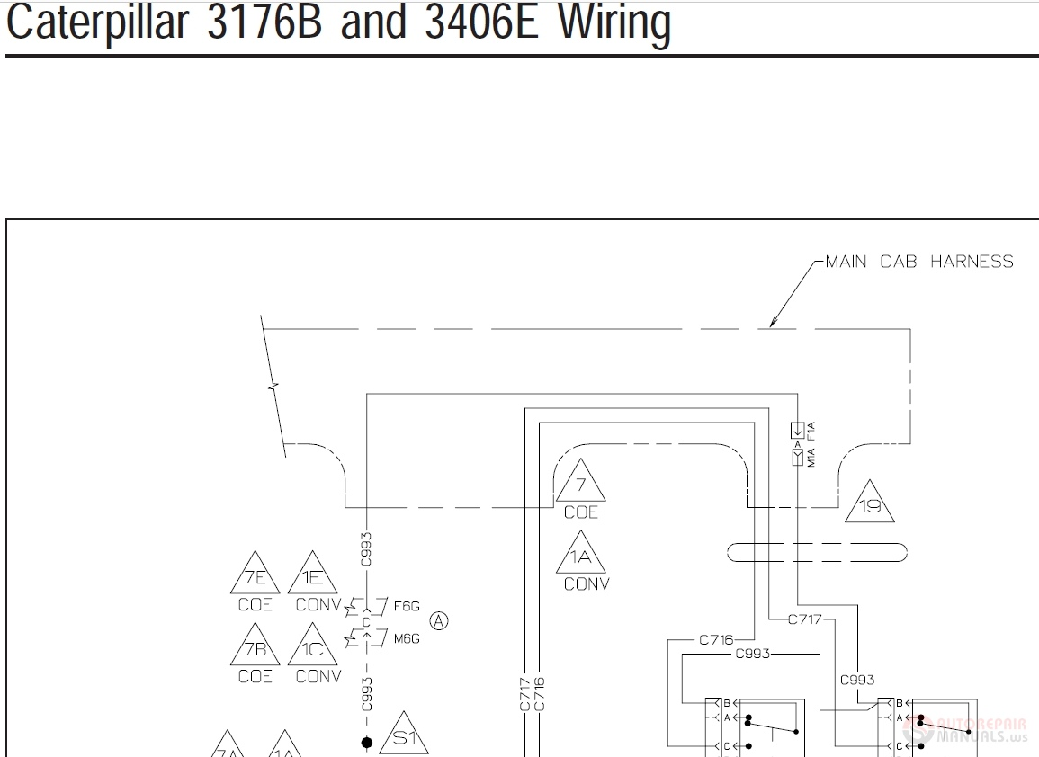 Caterpillar 3406e Wiring Diagram Manual Guide