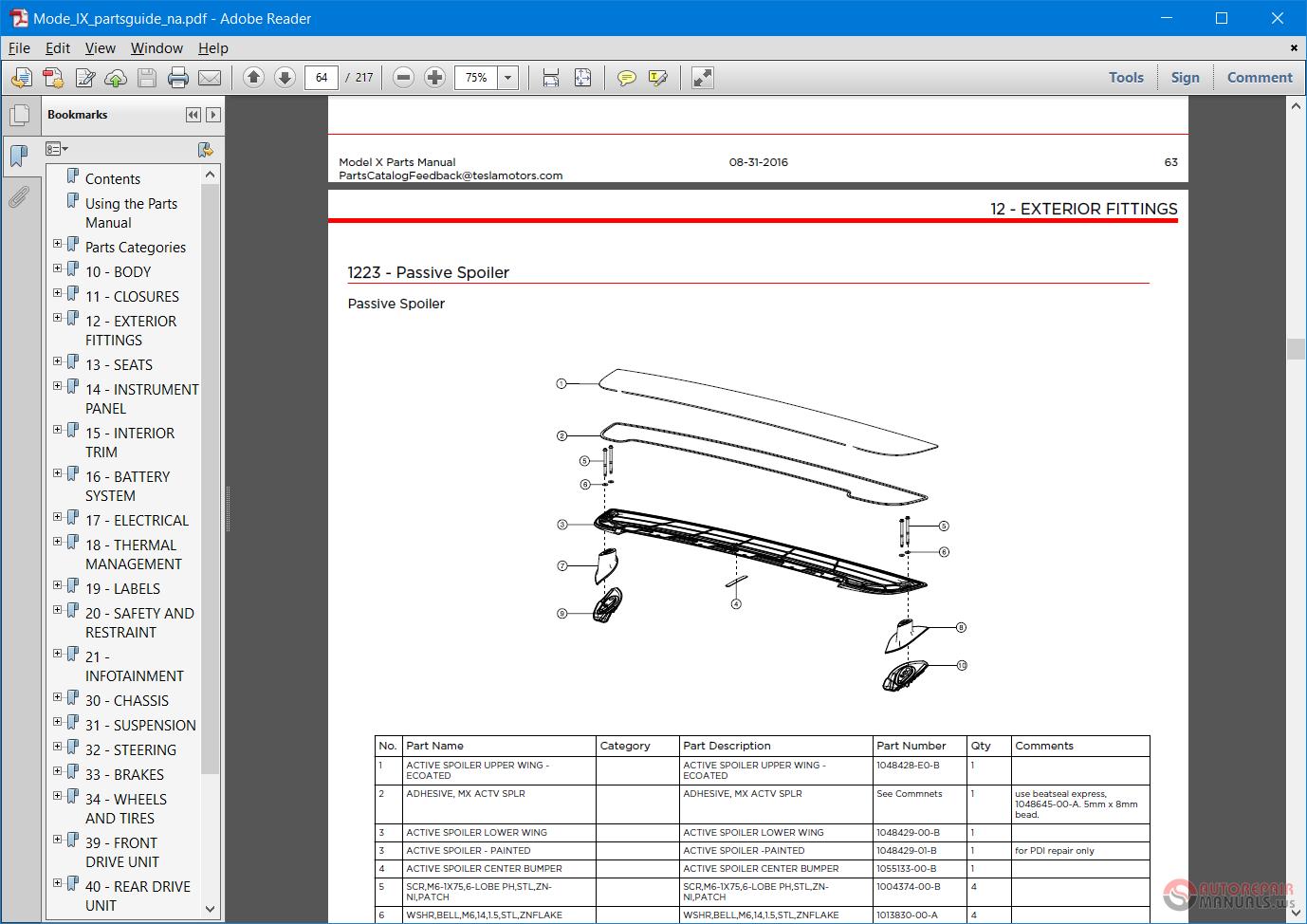 TESLA    Wiring       Diagram    Workshop Manual  Part Catalog