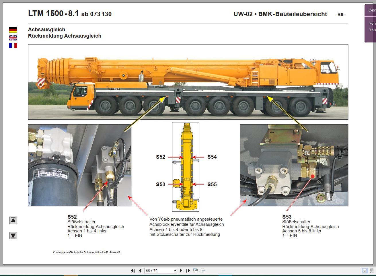 liebherr mobile and crawler crane full model dvd auto