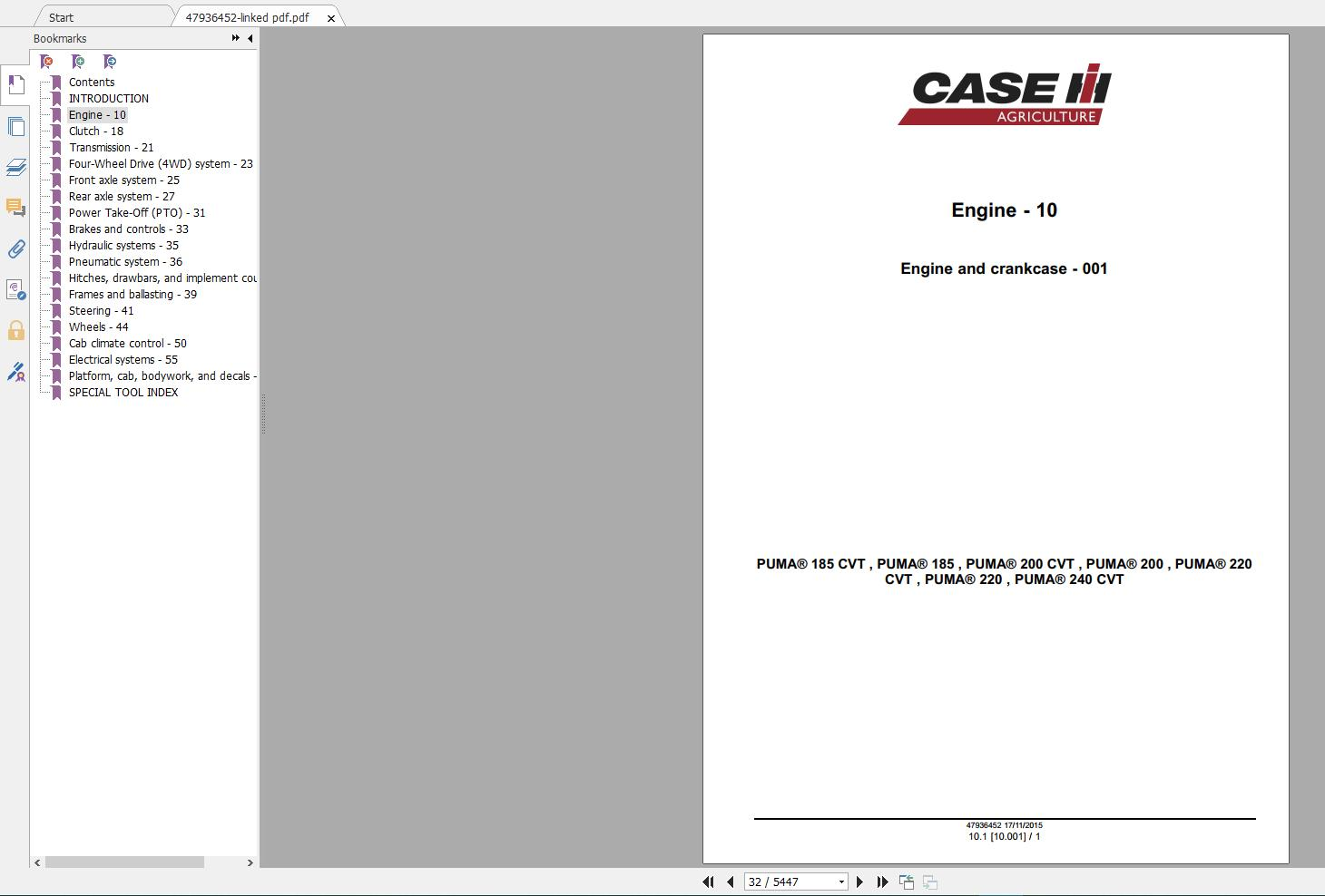 Arms  Case Tractors New Model Service Manual Full Dvd