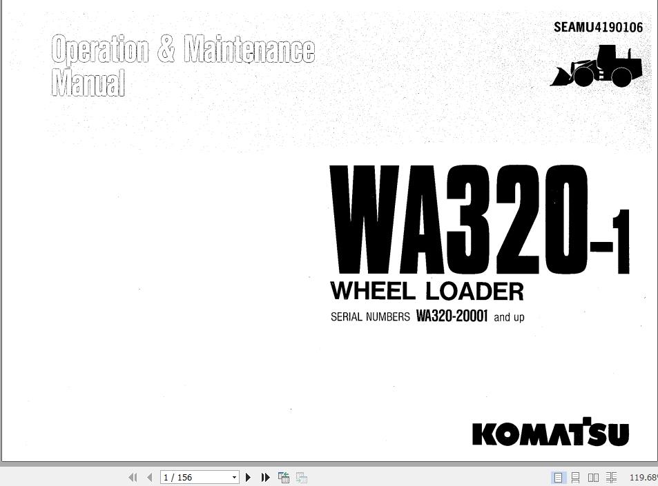 Komatsu Wheel Loader WA320-1 WA320-20001_and_up Operation