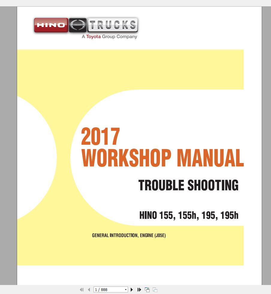 HINO Truck Workshop Manuals [2001-2019] DVD | Auto Repair Manual