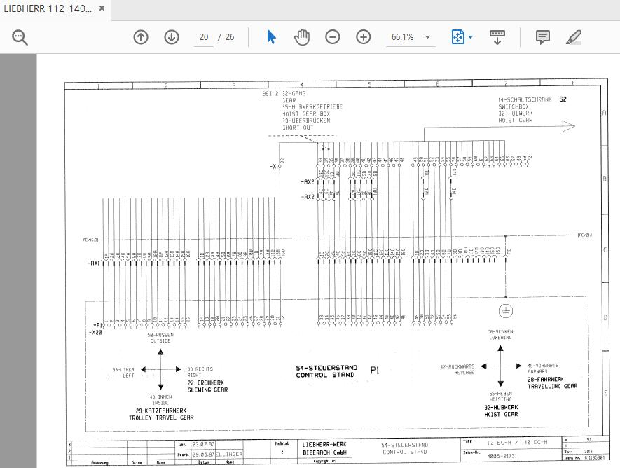 LIEBHERR 112_140 EC_H Tower Cranes Electrical Diagram 4005_21731 | Auto  Repair Manual Forum - Heavy Equipment Forums - Download Repair & Workshop  ManualAuto Repair Manual Forum