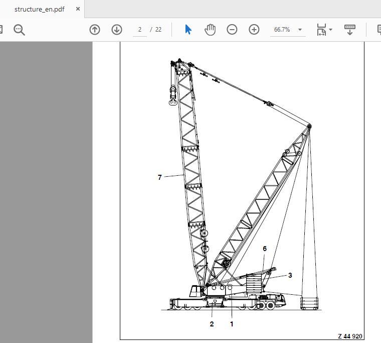 Terex Demag Tc2500 450t Shop Manual