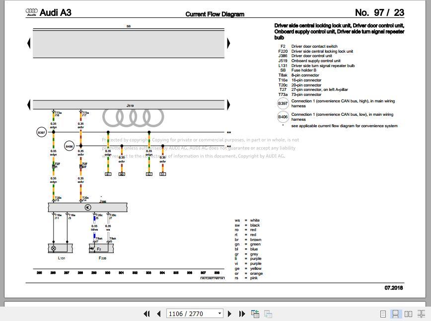 audi a3 8v 20132020 wiring digarams  workshop manualsen