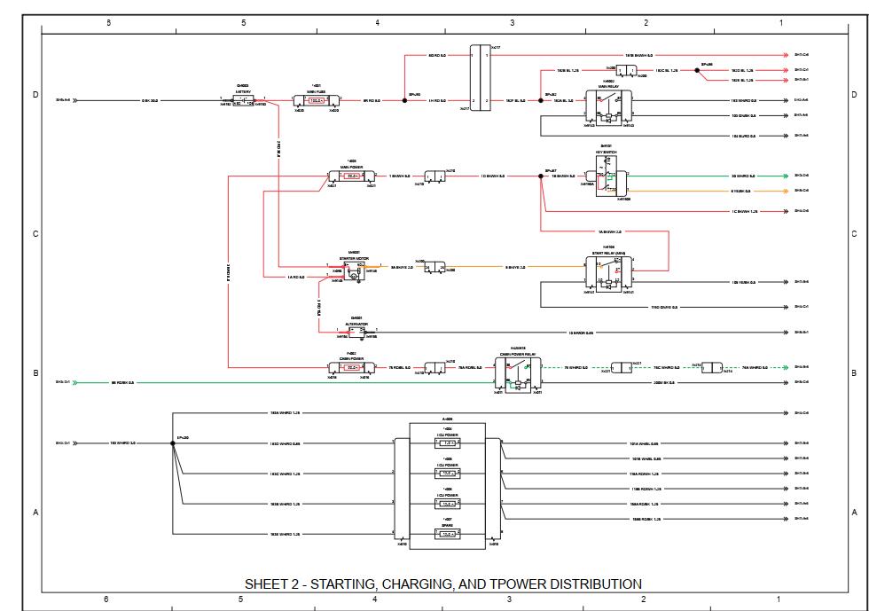 Case Tractor Farmall 35 40 50 C Schematic Diagram Manual