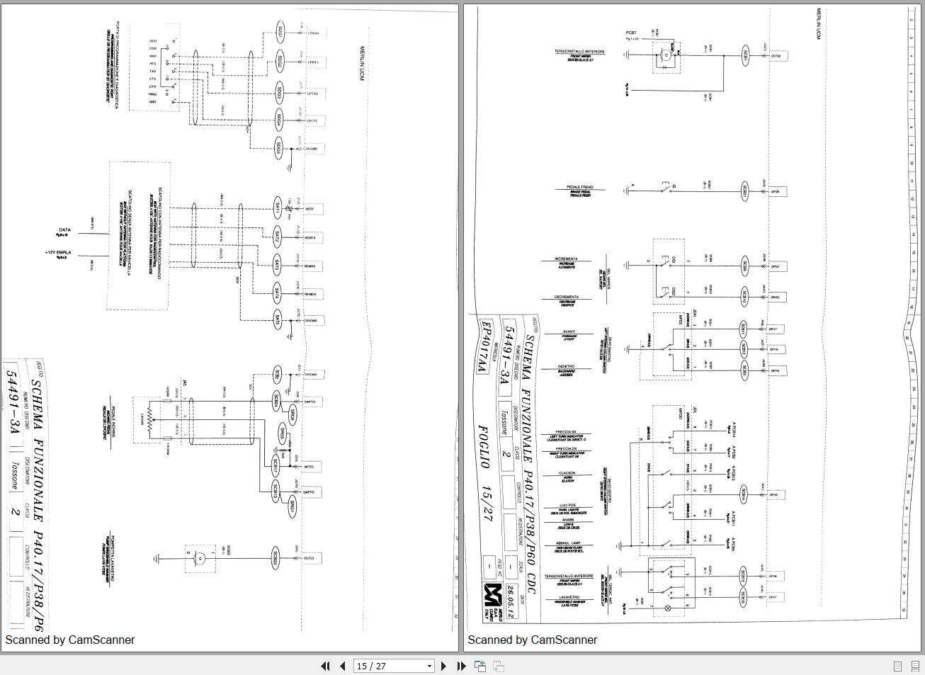 Merlo Telescopic Handler P39 P40 P60 Cdc Part Manual  U0026 Wiring Diagram