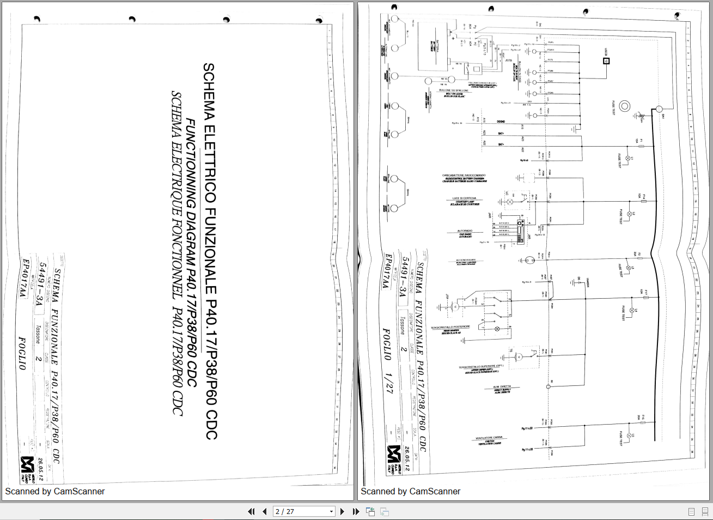 Merlo Telescopic Handler P40 17-p38-p60-cdc Wiring Diagram En