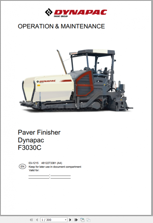 Dynapac Heavy Equipment 3.59 GB Operator & Maintenance Updated 2021 Full DVD 5
