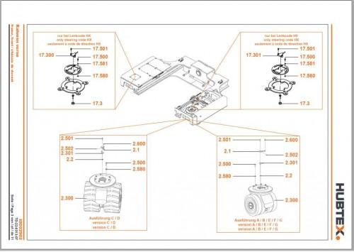 Hubtex Forklift MQ 70 2131 EL HP Operating Instructions and Spare Parts List DE 3