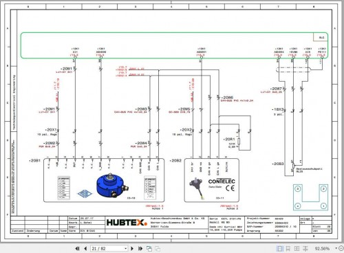 Hubtex Forklift MQ 80 2131 PU Operating Instructions and Spare Parts List DE 2