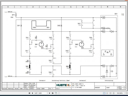 Hubtex Forklift MU 35 Operating Instructions and Spare Parts List DE 2
