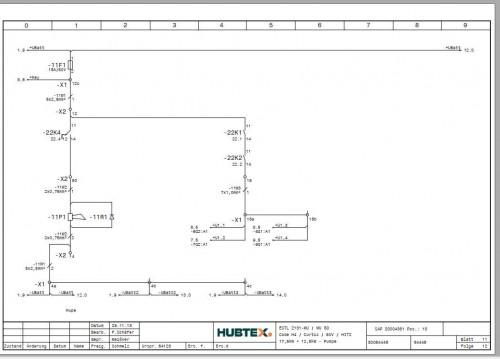 Hubtex Forklift MU 50 2131MU Operating Instructions and Spare Parts List DE 2