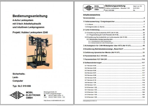 Hubtex Forklift SCH.12.15 Service Part Manual DE 2