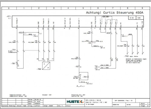 Hubtex Forklift SCH.12.15 Service Part Manual DE 3