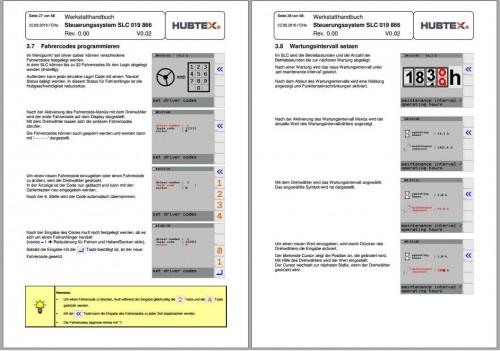 Hubtex Forklift SCH03.17 Service Part Manual DE 4