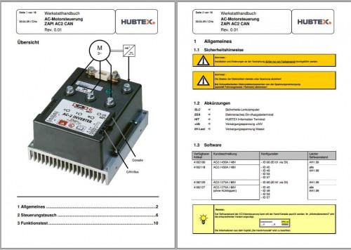 Hubtex Forklift Zapi Controller Operating Instructions DE 2