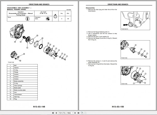 Terex TLB840 Backhoe Loader Service Manuals 2