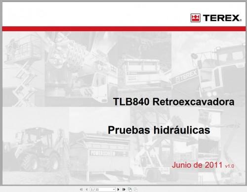 Terex TLB840 Backhoe Loader Service Manuals 4